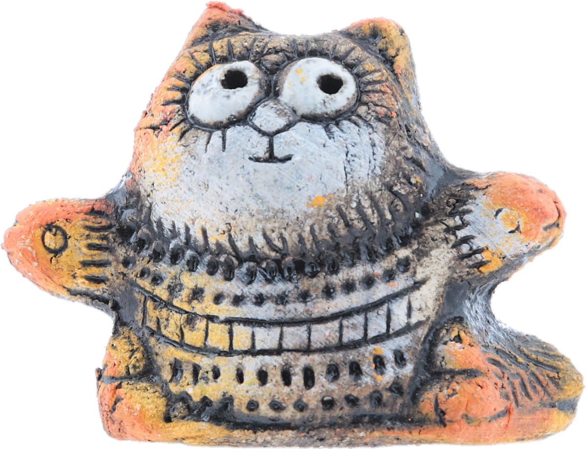 """Юрий Стукалов Статуэтка """"Лапы шире, три-четыре"""", авторская работа. Шамотная глина, глазурная и ангобная роспись, ручная работа. Высота"""
