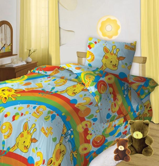Комплект детского постельного белья Кошки-мышки Веселый счет, цвет: голубой (8359-1)228521