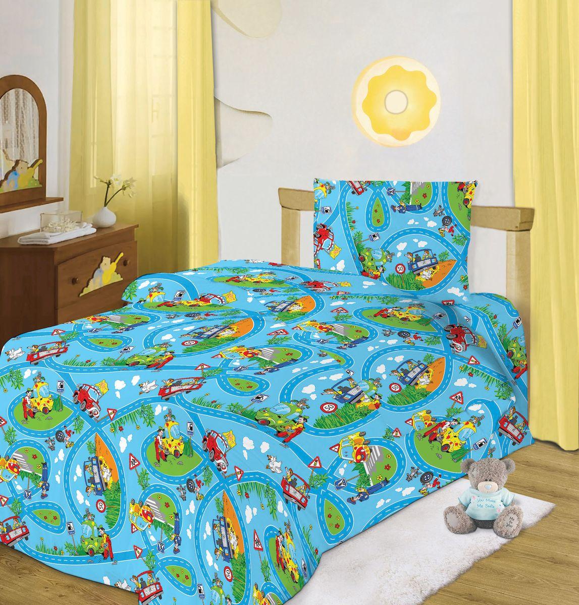 Кошки-мышки Комплект белья для новорожденных Светофор цвет синий 8135228529