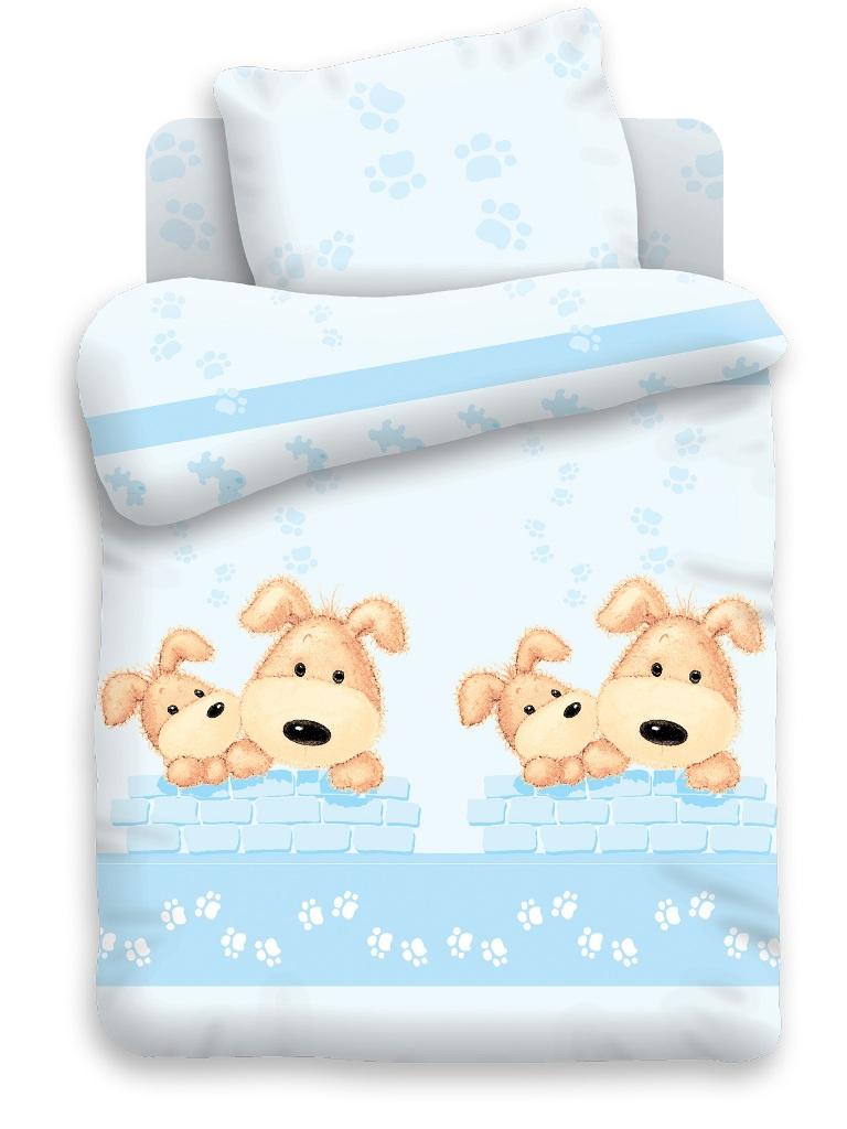 Непоседа Комплект белья для новорожденных Собачки цвет голубой 8411/8412263945