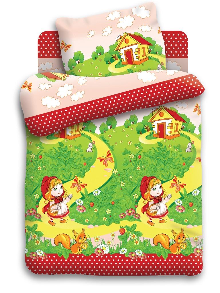 Кошки-мышки Комплект белья для новорожденных Краснаяшапочка цвет зеленый 8501-1 вид 2