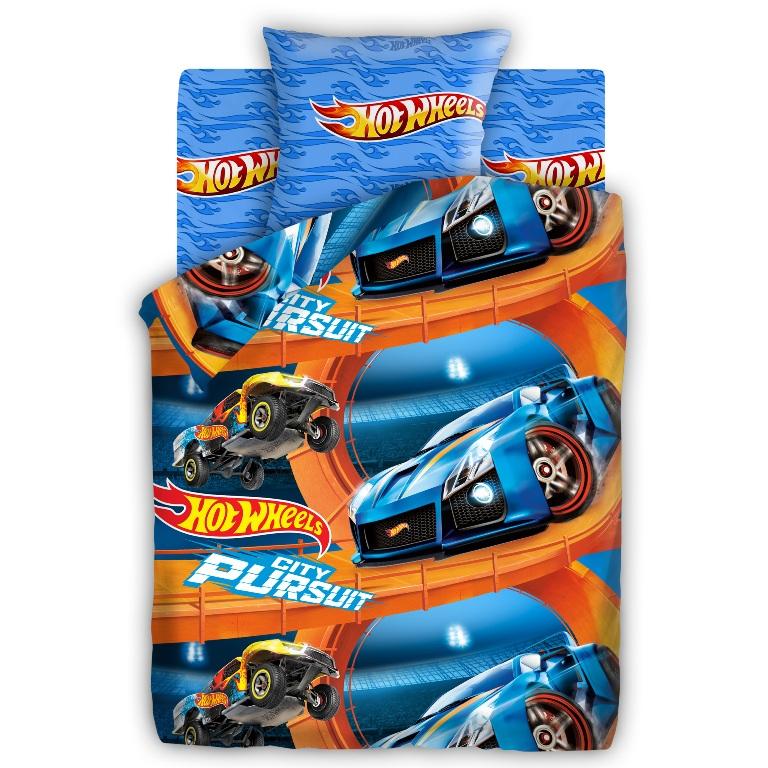 Комплект детского постельного белья Hot Wheels Крутой трек, цвет: синий (8706/8616 вид 3)314918
