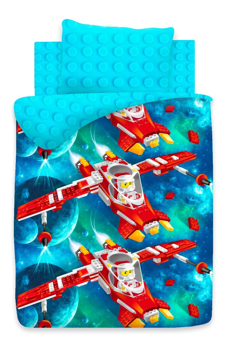Комплект детского постельного белья Непоседа Конструктор, цвет: синий (8738/8739 вид 1)329189