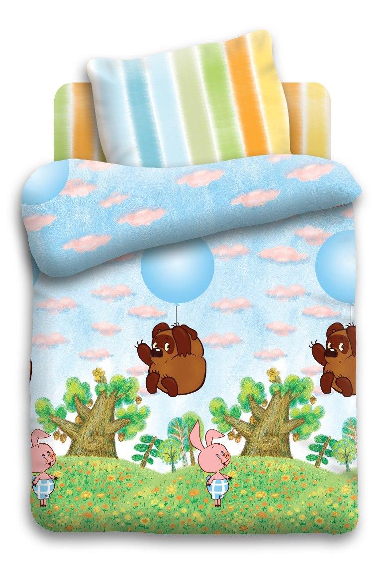 Союзмультфильм Комплект белья для новорожденных Винни Пух на шарике цвет голубой 8688/8638