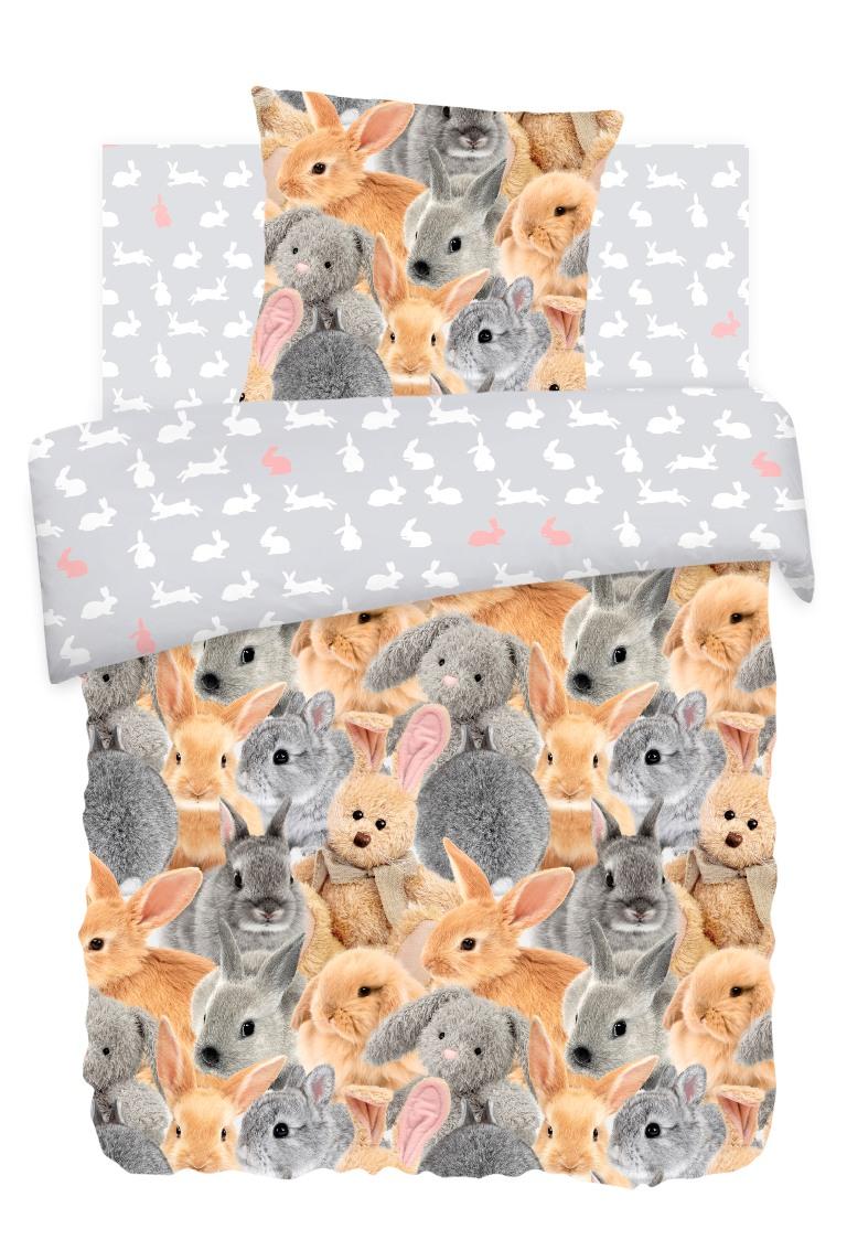 Комплект детского постельного белья For You Ушастики, цвет: серый (8757/8758 вид 1)336449
