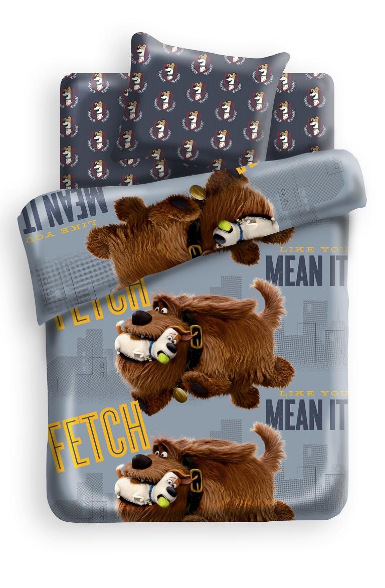 Комплект детского постельного белья Тайная жизнь домашних животных Макс и Дюк, цвет: серый (8769/8770)364197