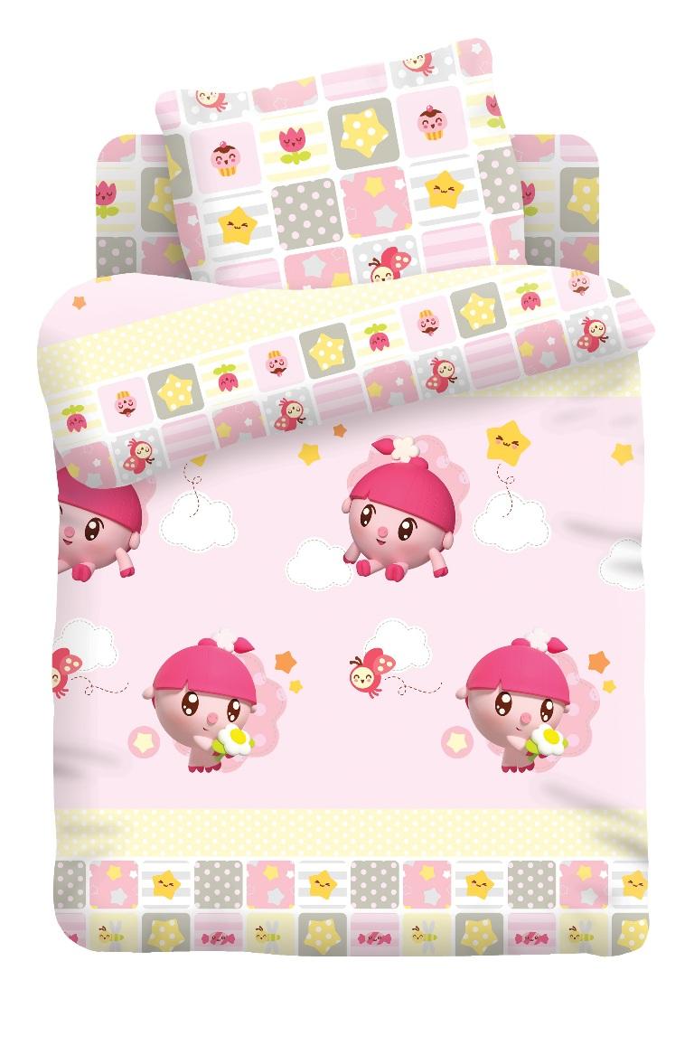 Малышарики Комплект белья для новорожденных Нюша цвет розовый 8788/8789368174