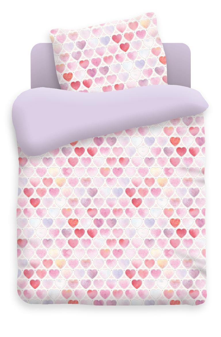 Непоседа Комплект белья для новорожденных Сердечки цвет фиолетовый 8808