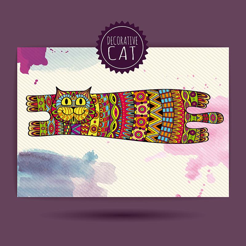 Картина Postermarket Кошка, роспись акварель, 30 х 30 см. AG 30-29AG 30-29