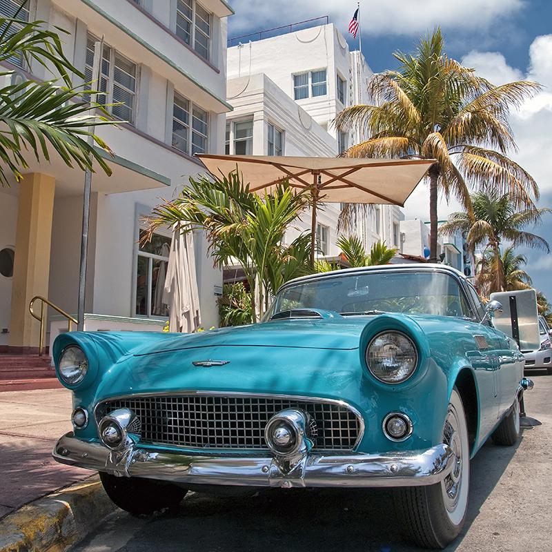 Картина Postermarket Автомобиль в Майами, 30 х 30 см. AG 30-48AG 30-48
