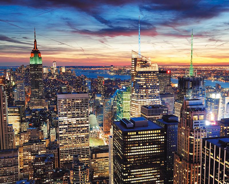 Канвасы Postermarket Нью-Йорк на закате, 40 х 50 см. CT3-05CT3-05