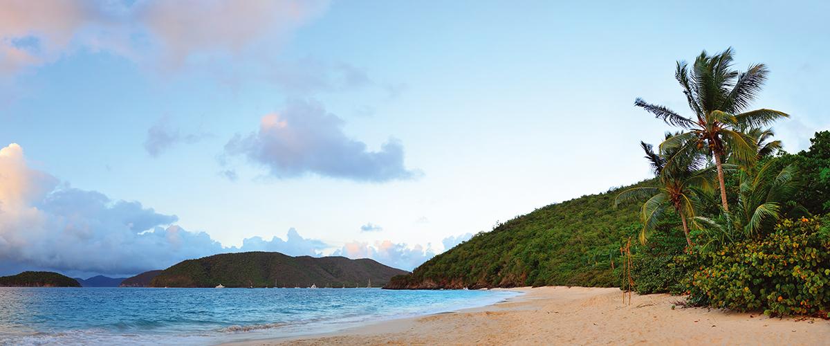 Канвасы Postermarket Закат на пляже. Виргинские острова, 45 х 115 см. CT4-23CT4-23