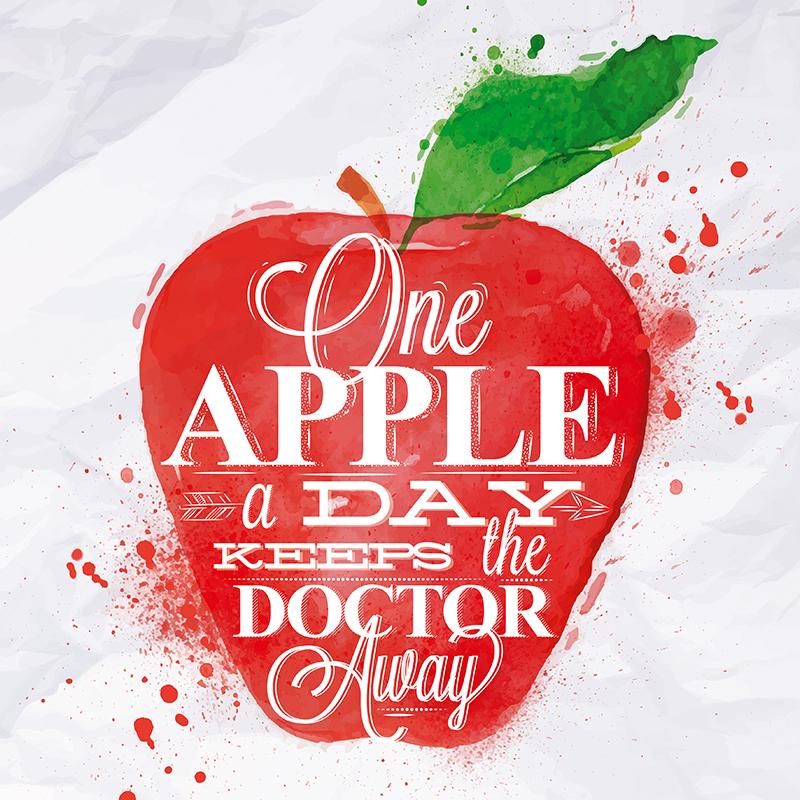 Декобокс Postermarket Красное яблоко, 30 х 30 см. DC-3012DC-3012