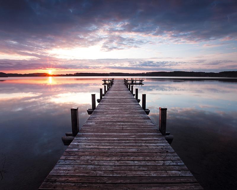 Декобокс Postermarket Деревянный пирс на озере, 40 х 50 см. DC-4011DC-4011