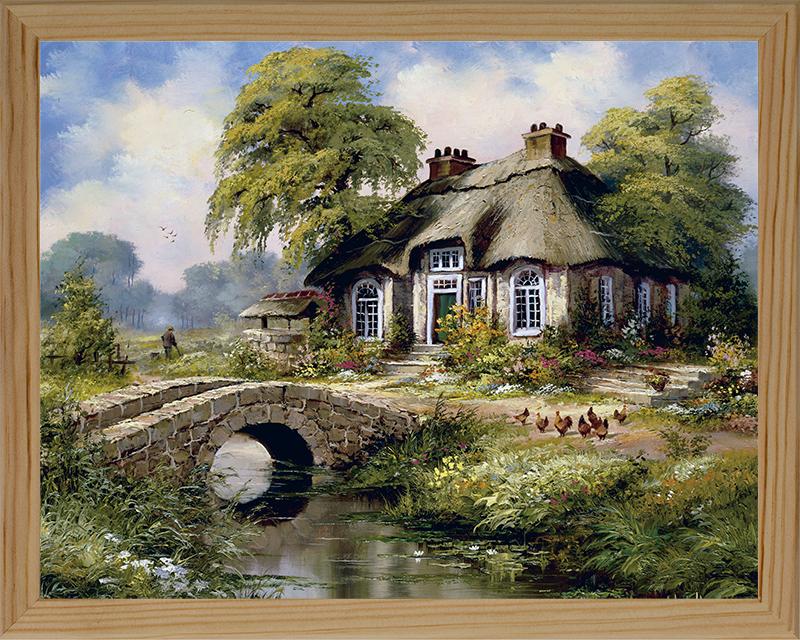 Картина Postermarket Дом у реки, 24 х 30 см. MC-21MC-21