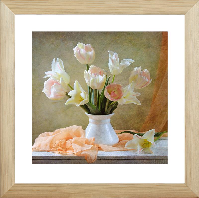 Картина Postermarket Тюльпаны в вазе, 40 х 40 см. MC-49MC-49
