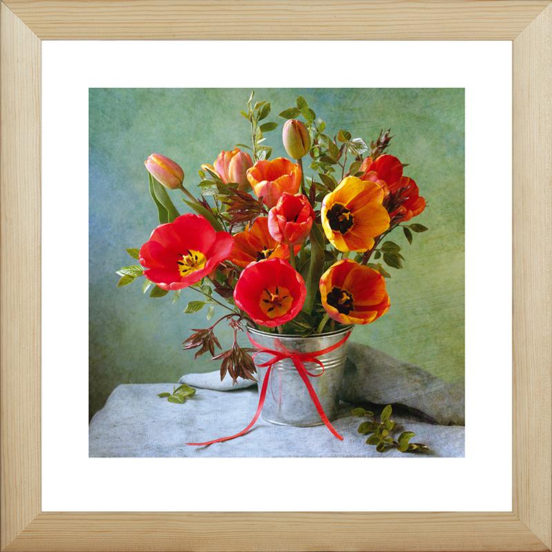 Картина Postermarket Натюрморт с тюльпанами, 40 х 40 см. MC-51MC-51