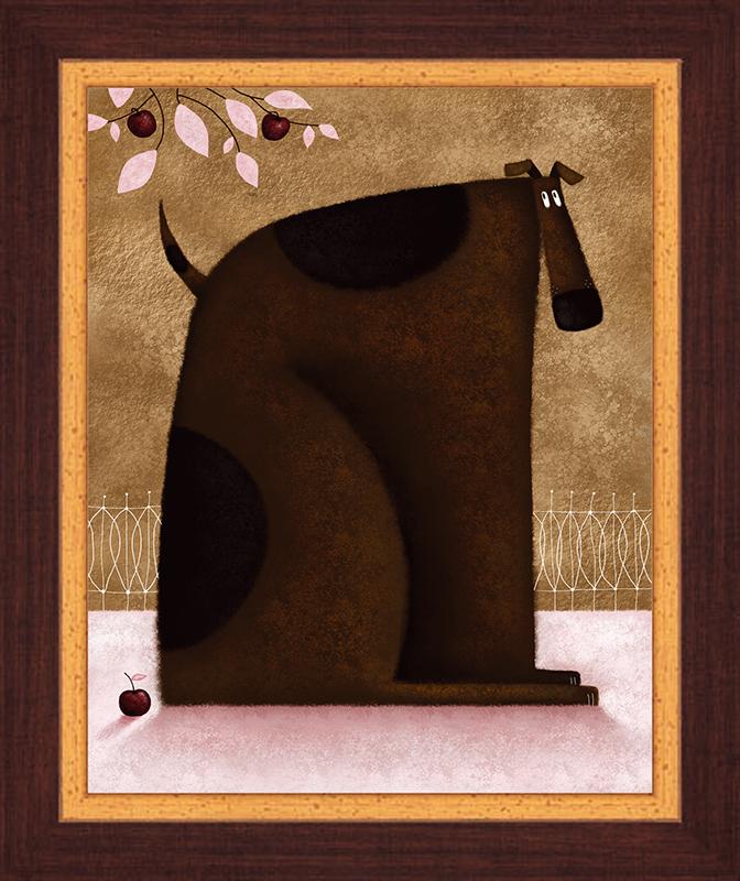 Картина Postermarket Пес и яблоки, 23 х 30 см. PC 1132PC 1132Картина Postermarket Пес и яблоки прекрасно подойдет для декора интерьера различных помещений. Постер, выполненный в технике фотопечать, оформлен багетом коричневого цвета. Картина для интерьера (постер) - это современное и актуальное направление в дизайне помещений. Ее можно использовать для оформления любых помещений (дом, квартира, офис, бар, кафе, ресторан или гостиница). работоспособность. Правильное оформление интерьера создает благоприятный психологический климат, улучшает настроение и мотивирует. Размер картины: 230 x 300 мм.