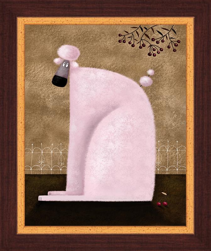 Картина Postermarket Розовый пудель, 23 х 30 см. PC 1133PC 1133