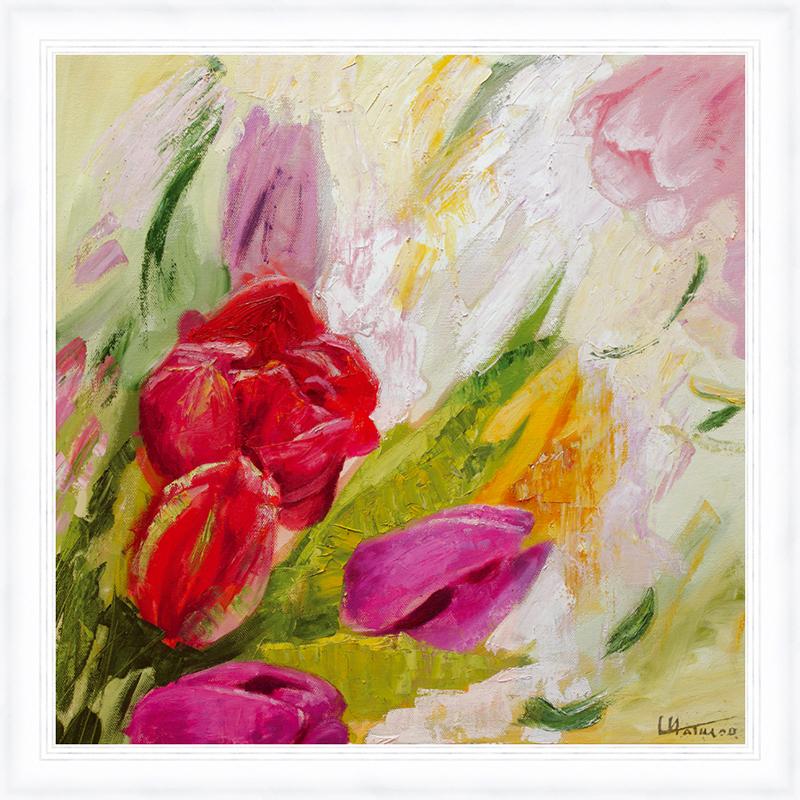 Картина Postermarket Букет тюльпанов, 30 х 30 см. PM-3014PM-3014