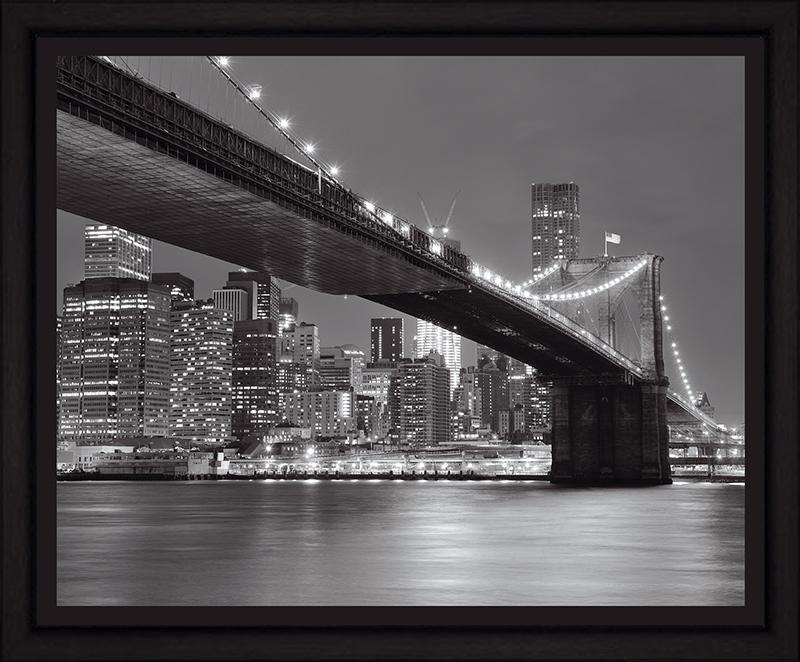 Картина Postermarket Бруклинский мост и панорама Нью-Йорка, 40 х 50 см. PM-4014PM-4014