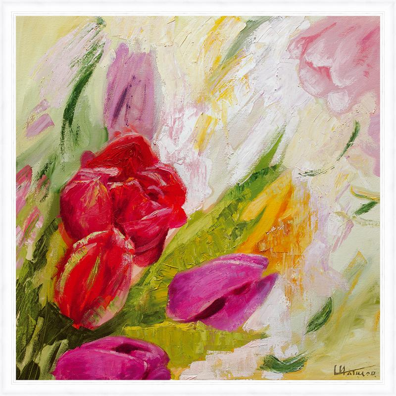 Картина Postermarket Букет тюльпанов, 50 х 50 см. PM-5004PM-5004