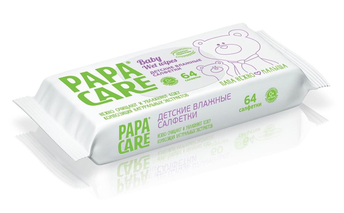 Papa Care Детские влажные салфетки 64 штPC06-00200Обладают противовоспалительными и антибактериальными свойствами. Оказывают увлажняющее и смягчающее действие на кожу малыша. В состав увлажняющего лосьона входят натуральные экстракты ромашки и алоэ вера которые оказывают противовоспалительное действие, мягко очищая и защищая малыша от бактерий. Товар сертифицирован.