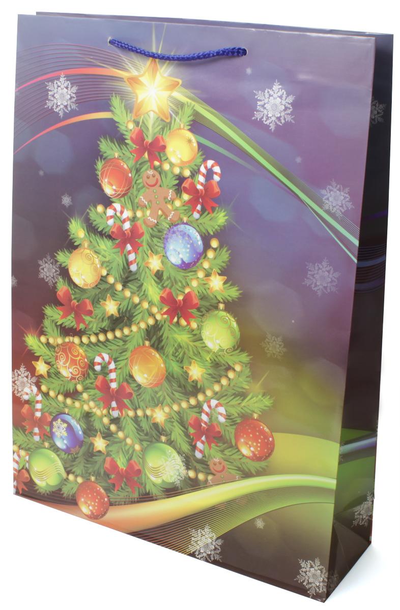 Пакет подарочный МегаМАГ Новый год, 32,4 х 44,5 х 10,2 см. 5000 XL5000 XLПодарочный пакет МегаМАГ, изготовленный из плотной ламинированной бумаги, станет незаменимым дополнением к выбранному подарку. Для удобной переноски на пакете имеются две ручки-шнурки. Подарок, преподнесенный в оригинальной упаковке, всегда будет самым эффектным и запоминающимся. Окружите близких людей вниманием и заботой, вручив презент в нарядном, праздничном оформлении.