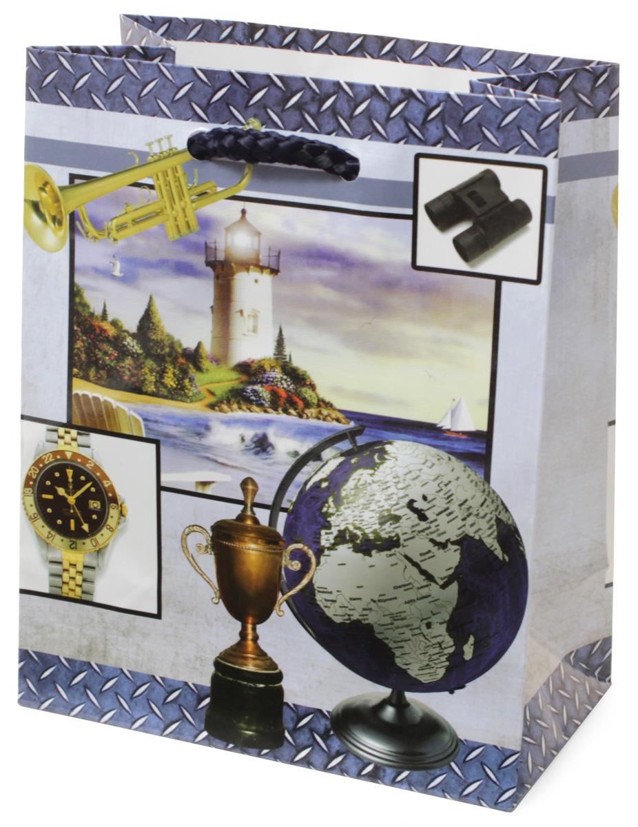 Пакет подарочный МегаМАГ Маяк. Кубок. Глобус. Часы, 11 х 13,7 х 6 см. 1040 S1040 SПодарочный пакет МегаМАГ, изготовленный из плотной ламинированной бумаги, станет незаменимым дополнением к выбранному подарку. Для удобной переноски на пакете имеются две ручки-шнурки. Подарок, преподнесенный в оригинальной упаковке, всегда будет самым эффектным и запоминающимся. Окружите близких людей вниманием и заботой, вручив презент в нарядном, праздничном оформлении.