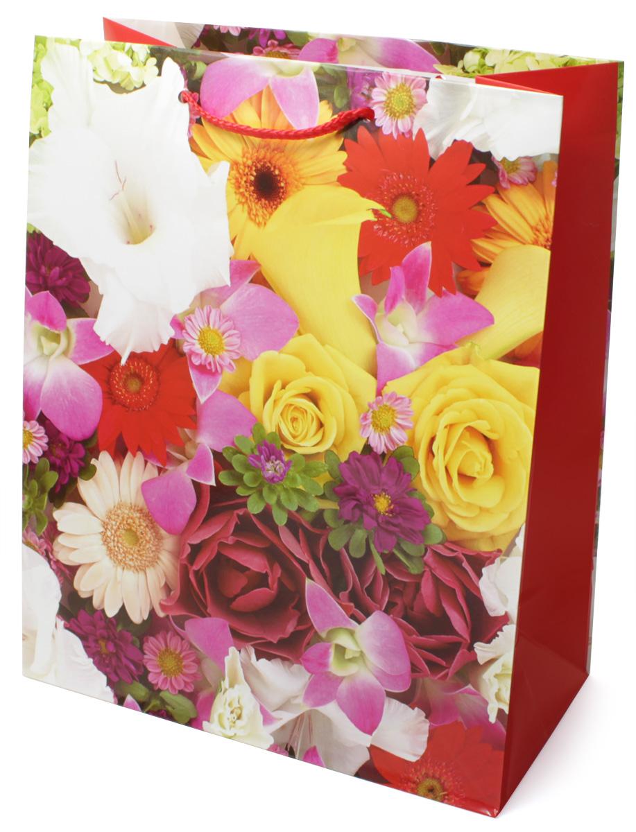 Пакет подарочный МегаМАГ Цветы, 26,4 х 32,7 х 13,6 см. 3062 L3062 LПодарочный пакет МегаМАГ, изготовленный из плотной ламинированной бумаги, станет незаменимым дополнением к выбранному подарку. Для удобной переноски на пакете имеются две ручки-шнурки. Подарок, преподнесенный в оригинальной упаковке, всегда будет самым эффектным и запоминающимся. Окружите близких людей вниманием и заботой, вручив презент в нарядном, праздничном оформлении.