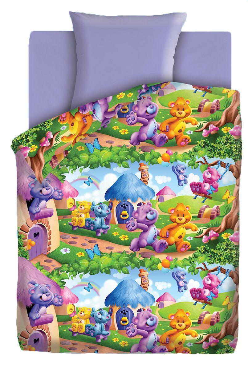 Комплект детского постельного белья Непоседа Радужные мишки, цвет: лиловый (4614)370583