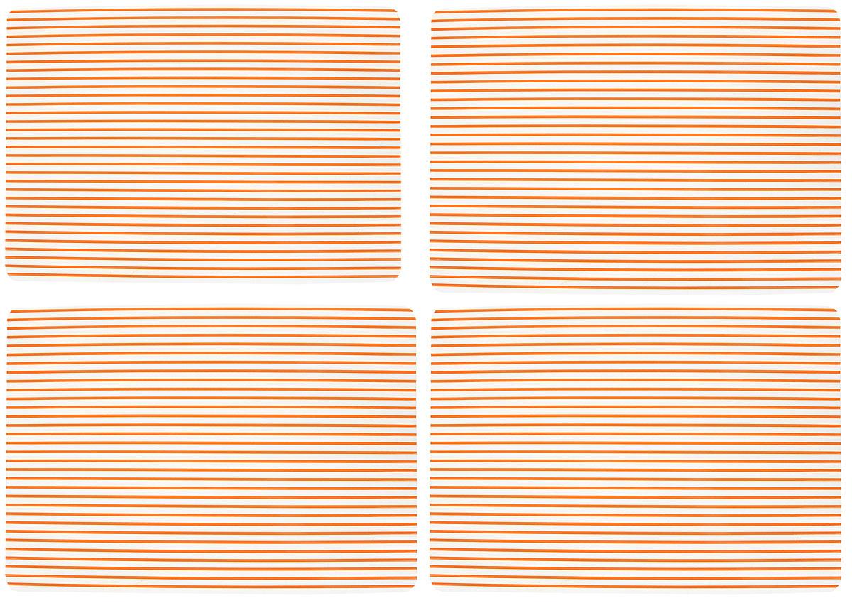 Набор сервировочных термосалфеток GiftnHome, цвет: оранжевый, прозрачный, 46 х 31 смSC13Набор GiftnHome, изготовленный из винила, состоит из четырех термосалфеток. Такие салфетки - это отличная идея для сервировки! Салфетки защищают поверхность стола от воздействия температур, влаги и загрязнений, а также украшают интерьер. Размер салфетки: 46 х 31 см.