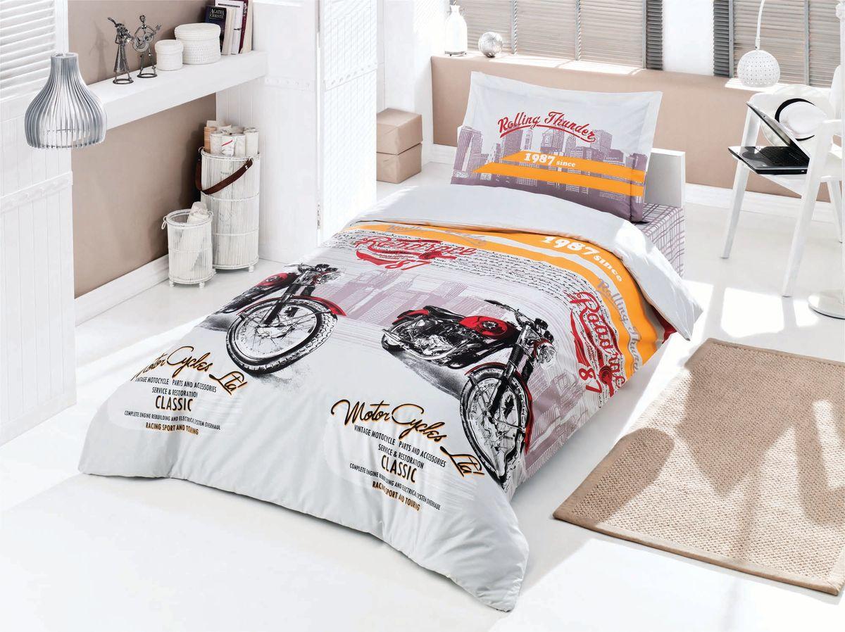 Комплект белья Clasy Roadrace, 1,5-спальный, наволочка 50х70. 52215221Товары под брендом Clasy изготовлены в Турции из высококачественного хлопка на одной из ведущих фабрик. Все изделия упакованы в подарочные картонные коробки, к которым прилагается фирменный пакет с логотипом.
