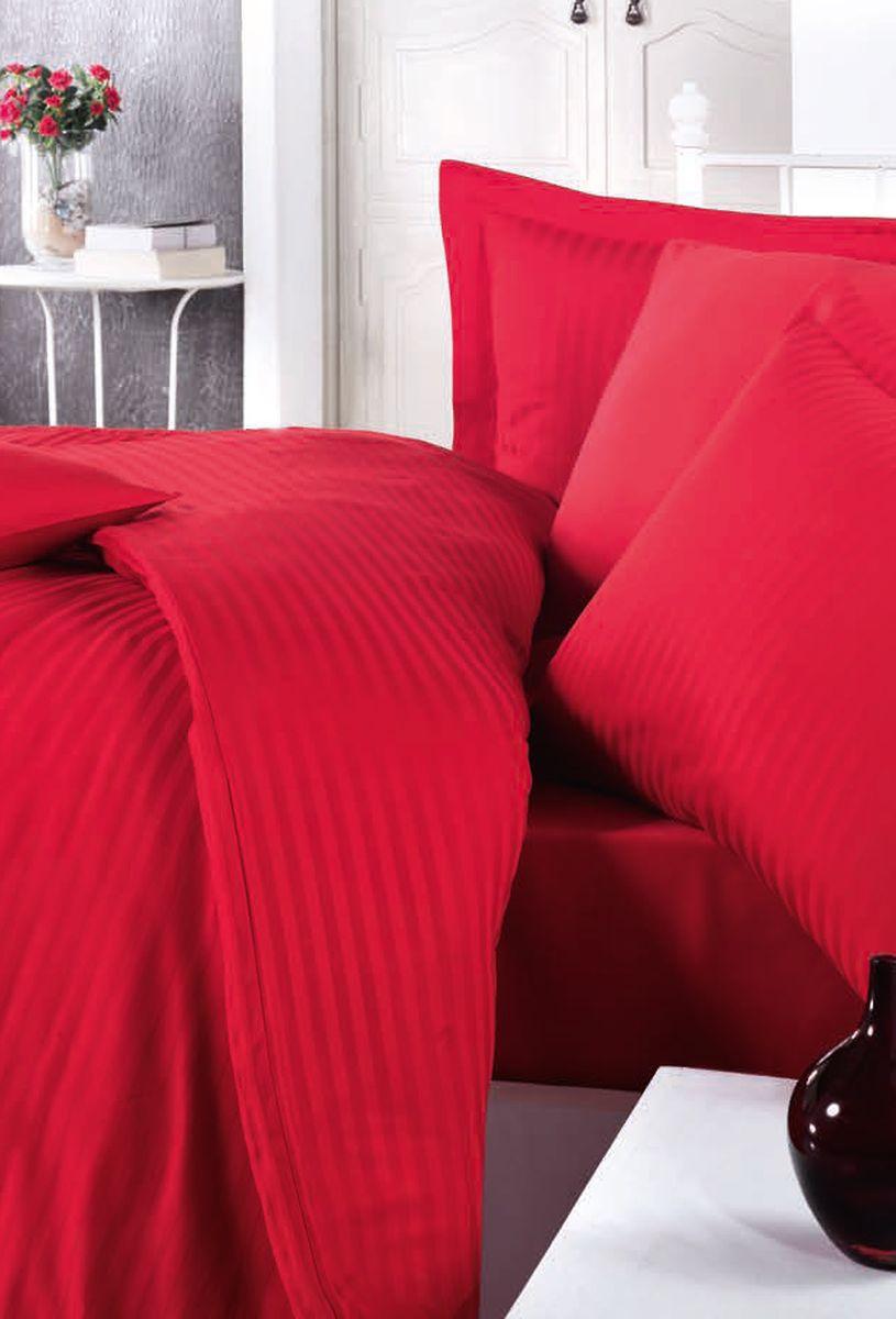 Комплект белья Clasy Stripe Satin, евро, наволочки 50х70, цвет: красный. 52405240Товары под брендом Clasy изготовлены в Турции из высококачественного хлопка на одной из ведущих фабрик. Все изделия упакованы в подарочные картонные коробки, к которым прилагается фирменный пакет с логотипом.
