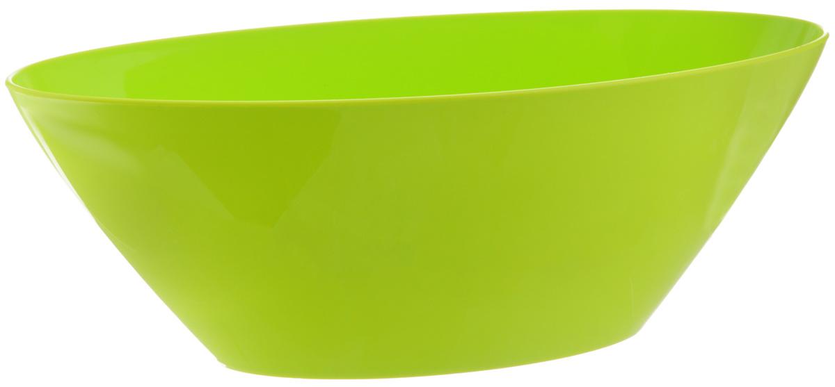 Кашпо Idea Овал, цвет: салатовый, 3,4 лМ 3109Кашпо Idea Овал изготовлено из высококачественного полипропилена. Изделие прекрасно подходит для выращивания растений и цветов в домашних условиях. Лаконичный дизайн впишется в интерьер любого помещения. Размер кашпо: 16 х 36 см. Высота: 13 см.