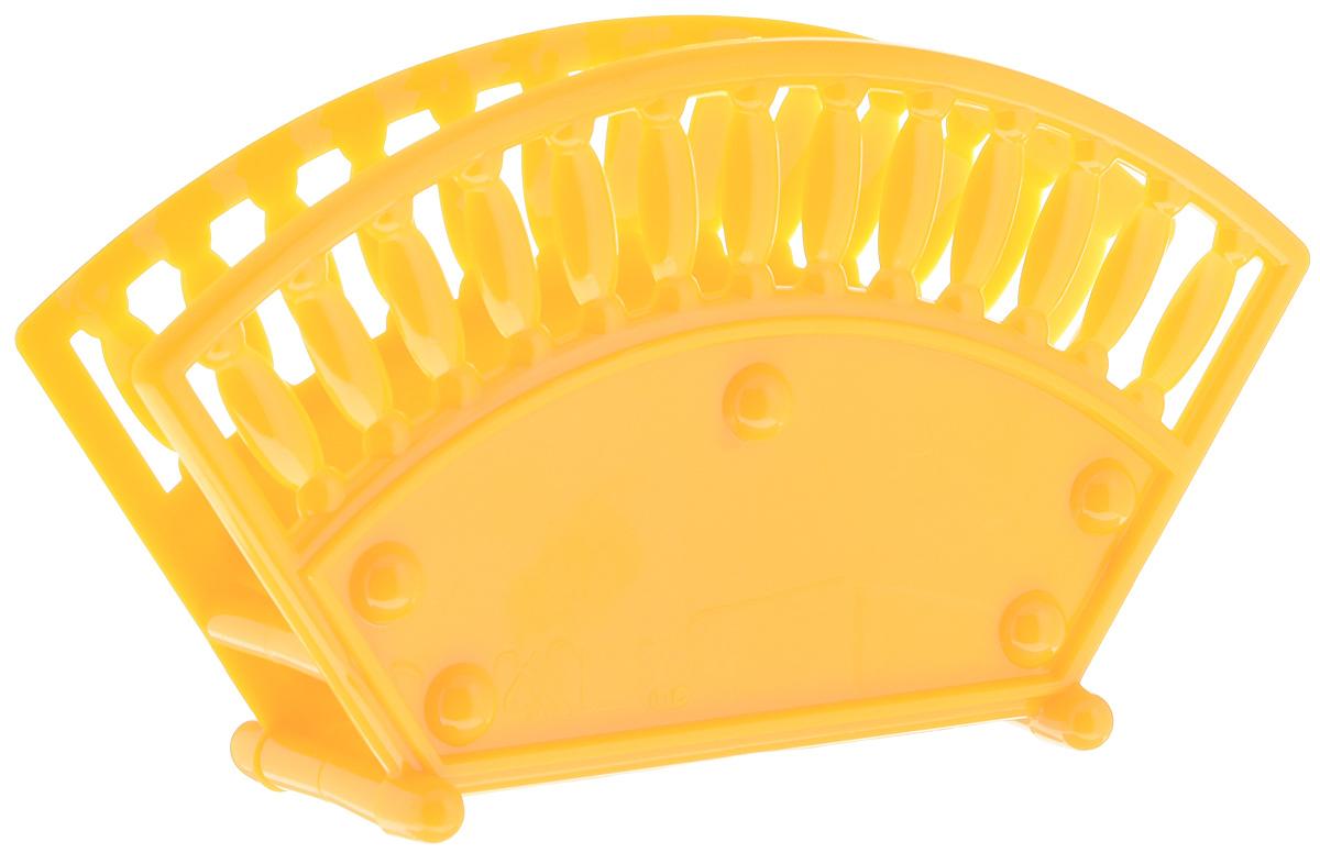 Салфетница Альтернатива, цвет: желтый, оранжевый, 17,5 х 4,7 х 9,5 смМ069_желтый/непрозрачныйСалфетница Альтернатива изготовлена из высококачественного пластика и оформлена оригинальной перфорацией. Изделие сочетает в себе изысканный дизайн с максимальной функциональностью. Такая салфетница станет практичным украшением вашего кухонного стола.