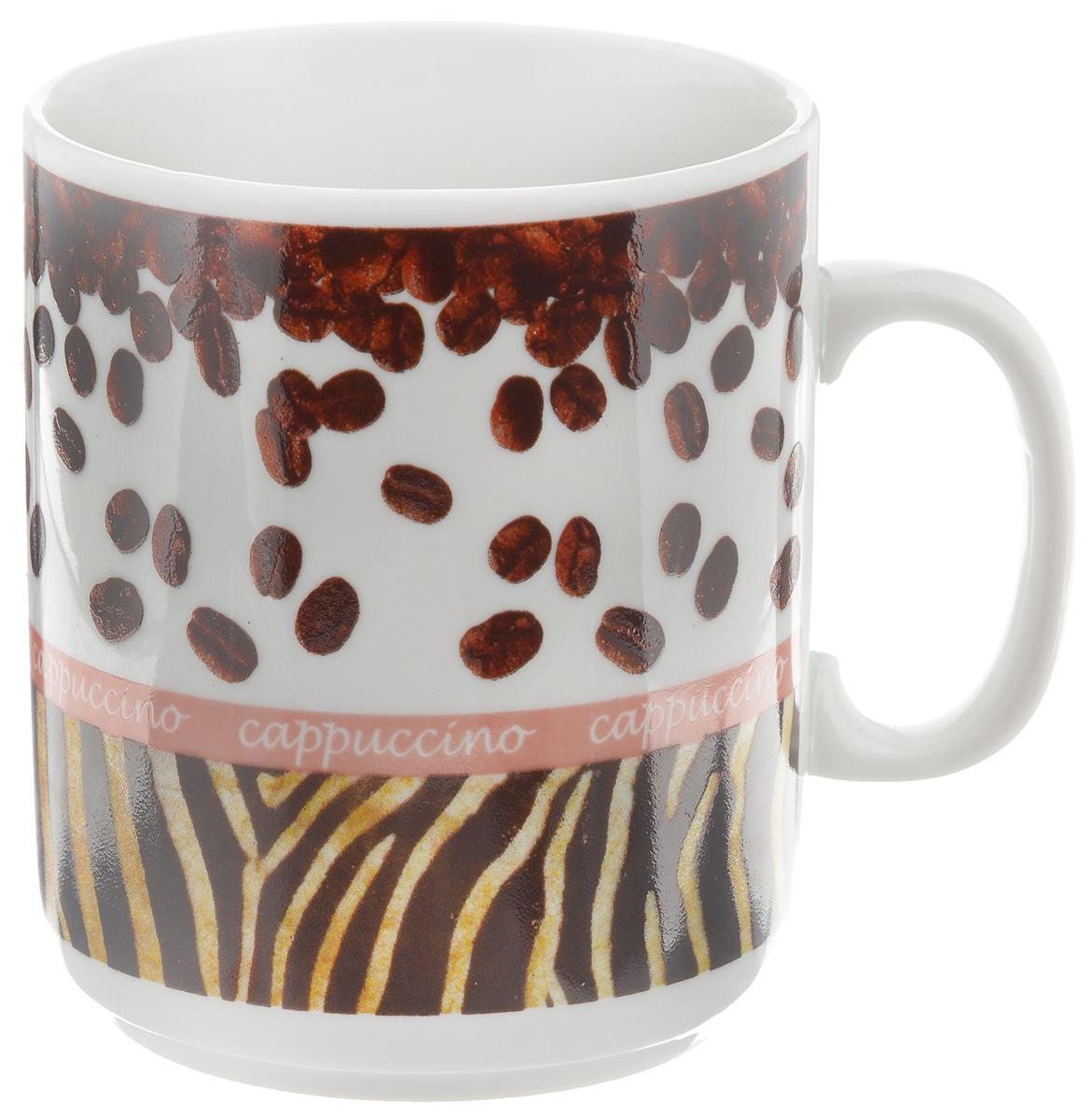 Кружка Фарфор Вербилок Капучино, 300 мл9272160Кружка Фарфор Вербилок Капучино способна скрасить любое чаепитие. Изделие выполнено из высококачественного фарфора. Посуда из такого материала позволяет сохранить истинный вкус напитка, а также помогает ему дольше оставаться теплым. Диаметр по верхнему краю: 8 см. Высота кружки: 9,5 см. Объем кружки: 300 мл.