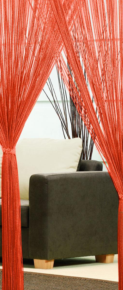Гардина-лапша Haft, на кулиске, цвет: терракотовый, высота 250 см. 4699046990/90 терракотЛегкая гардина-лапша на кулиске Haft, изготовленная из полиэстера, станет великолепным украшением любого окна. Оригинальный дизайн и приятная цветовая гамма привлекут к себе внимание и органично впишутся в интерьер комнаты. К изделию прилагается удобный мешок для стирки на стяжке.