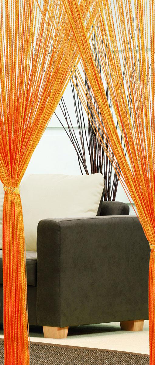 Гардина-лапша Haft, на кулиске, цвет: оранжевый, высота 250 см. 46990/25046990/250 оранжевыйЛегкая гардина-лапша на кулиске Haft, изготовленная из полиэстера, станет великолепным украшением любого окна. Оригинальный дизайн и приятная цветовая гамма привлекут к себе внимание и органично впишутся в интерьер комнаты. К изделию прилагается удобный мешок для стирки на стяжке.