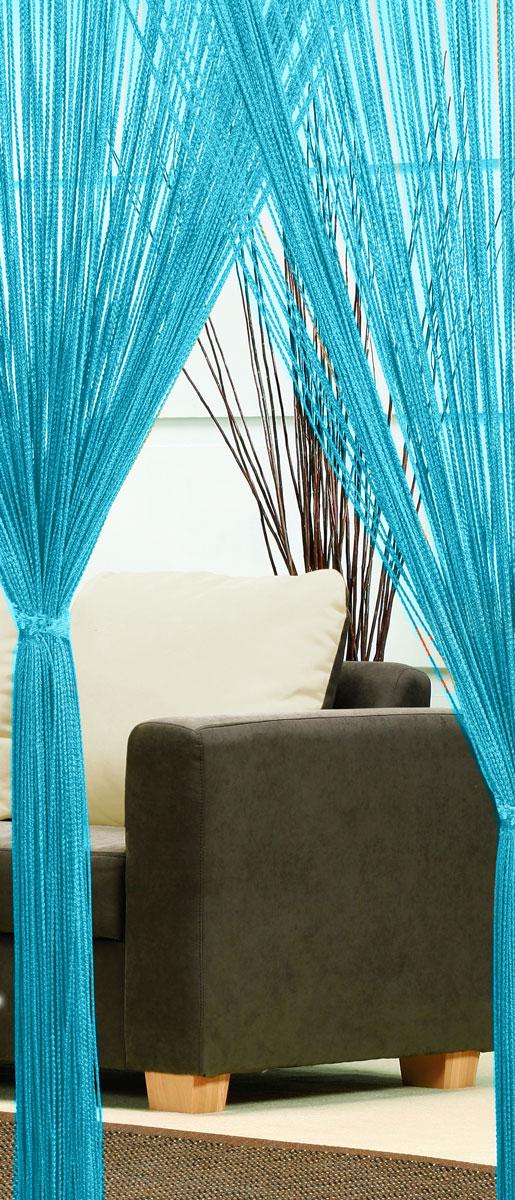 Гардина-лапша Haft, на кулиске, цвет: голубой, высота 250 см. 46990/25046990/250 св.голубойЛегкая гардина-лапша на кулиске Haft, изготовленная из полиэстера, станет великолепным украшением любого окна. Оригинальный дизайн и приятная цветовая гамма привлекут к себе внимание и органично впишутся в интерьер комнаты. К изделию прилагается удобный мешок для стирки на стяжке.