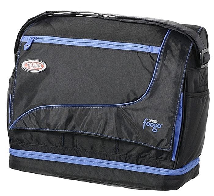 "Thermos Сумка-термос Foogo ""Large Diaper Sporty Bag"", цвет: черный, голубой, 31 х 34 х 14,5 см 003140"