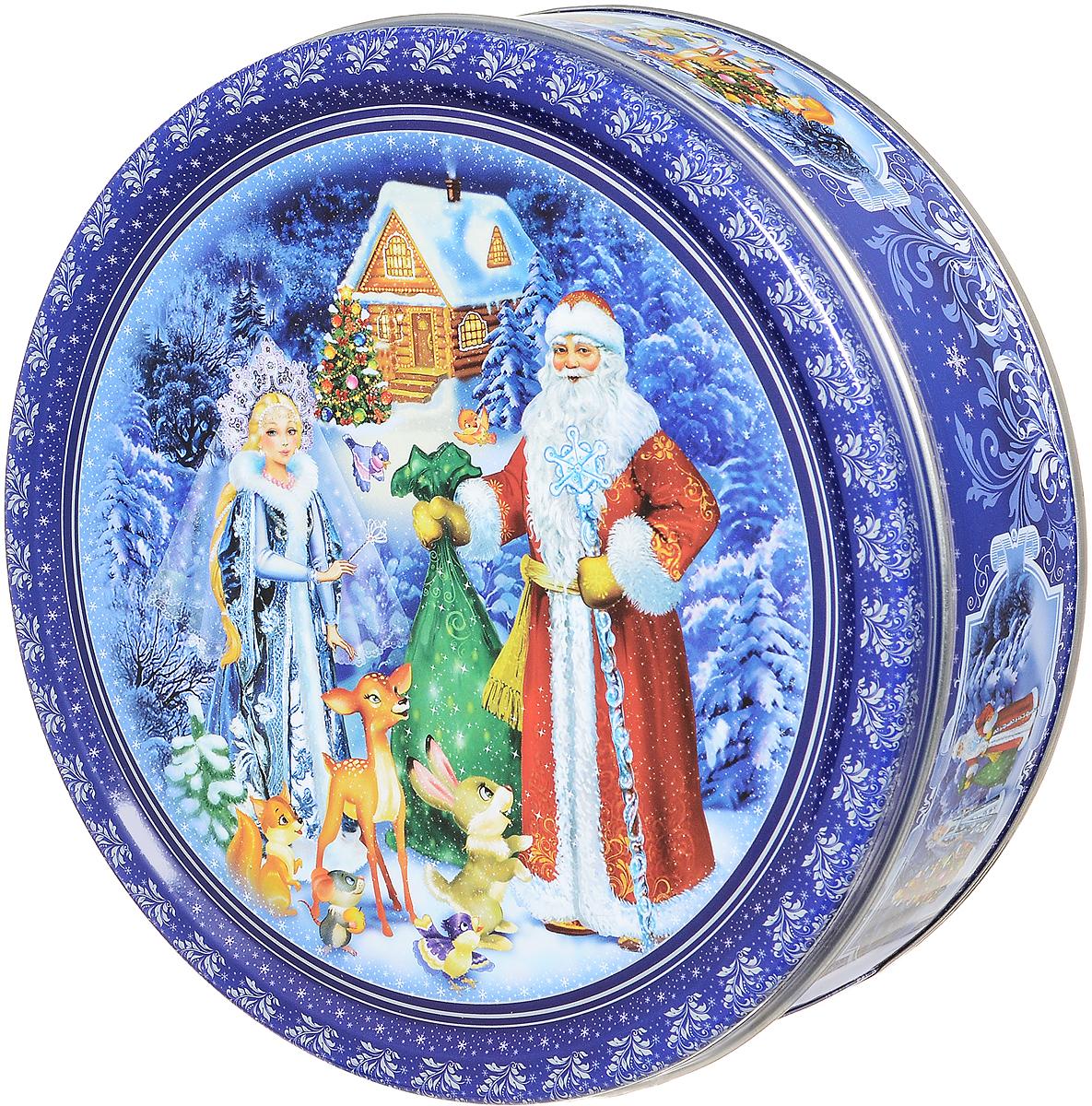 Сладкая Сказка Печенье Дед Мороз и Снегурочка, 400 гMC-4-19_синийСладкая Сказка Дед Мороз и Снегурочка - 100% сдобное печенье со сливочным маслом. Упаковано в металлическую банку, оформленную ярким рисунком. Такое печенье станет оригинальным подарком к новогодним праздникам.