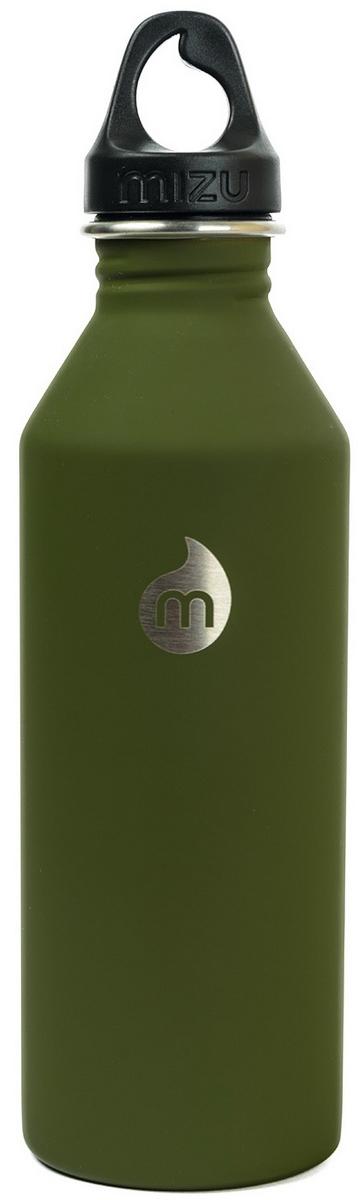 Бутылка для воды Mizu M8, цвет: темно-зеленый, 800 млM08AMZASAAБутылка из пищевой нержавеющей стали для тех, кто заботится об окружающей среде и своем здоровье. Объем: 800 мл. Обхват: 24 см. Диаметр: 7 см. Высота (с крышкой): 26 см.