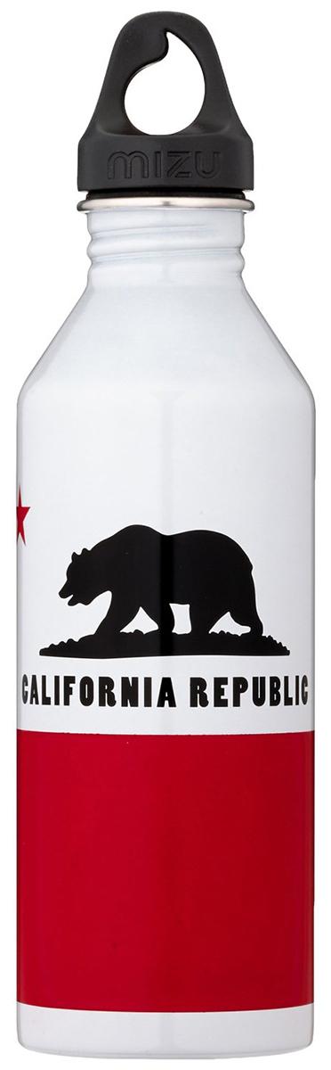 Бутылка для воды Mizu M8. California Flag, цвет: глянцево белый, 800 млM08AMZFCAБутылка из пищевой нержавеющей стали для тех, кто заботится об окружающей среде и своем здоровье. Объем: 800 мл. Обхват: 24 см. Диаметр: 7 см. Высота (с крышкой): 26 см.