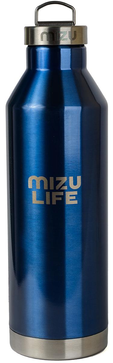 Термобутылка для жидкостей Mizu V8, цвет: голубой, 800 млV08AMZAQUAБутылка термос из пищевой нержавеющей стали для тех, кто заботится об окружающей среде и своем здоровье. Объем: 800 мл. Диаметр: 7, 5 см. Обхват: 24 см. Высота (с крышкой): 26, 5 см. Нержавеющая крышка из стали с кольцом Сохраняет горячее до 12 часов и холодное до 18 часов. Сохраняет температуру: горячее до 12 часов, холодное до 18 часов .Не содержит вредного BPA .Многоразовое использование. Материал: пищевая нержавеющая сталь сорта 18/8.