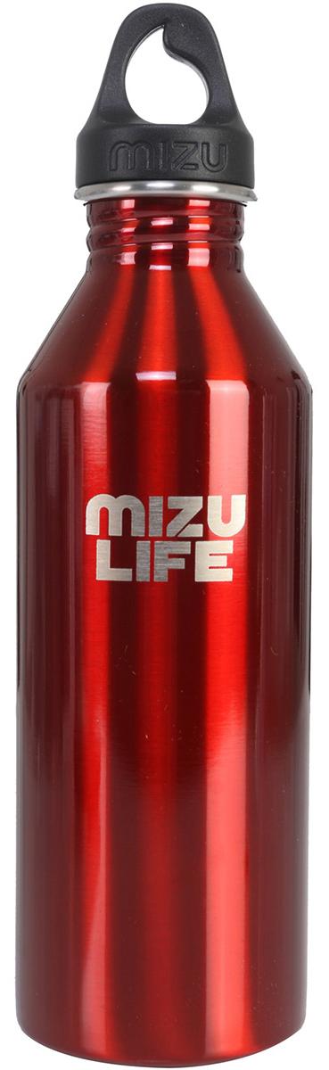 Бутылка для воды Mizu M8, цвет: красный, 800 млZ-M08AMZAБутылка из пищевой нержавеющей стали для тех, кто заботится об окружающей среде и своем здоровье. Объем: 800 мл. Обхват: 24 см. Диаметр: 7 см. Высота (с крышкой): 26 см.