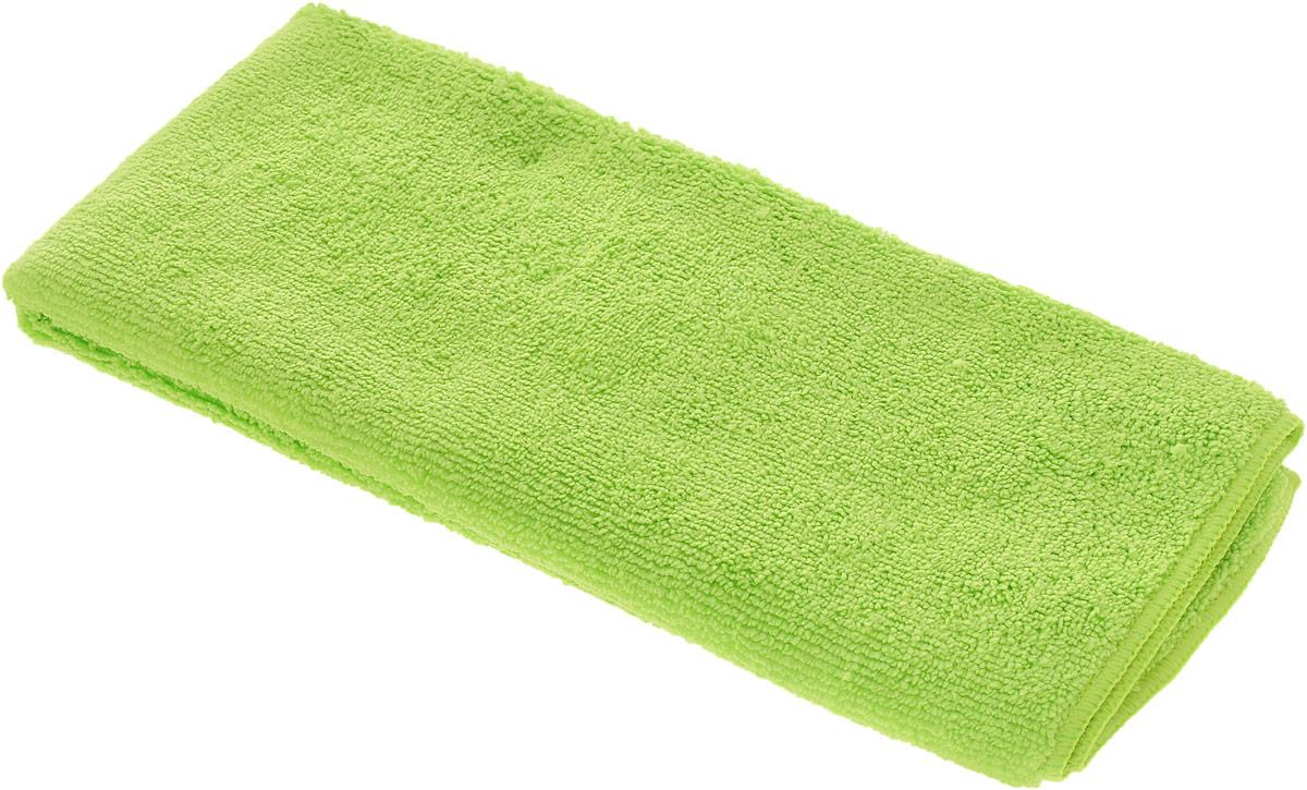 Салфетка чистящая Sapfire Large & Soft, цвет: салатовый, 60 х 50 смSFM-3011_салатовыйЧистящая салфетка Sapfire Large & Soft выполнена из микрофибры (85% полиэстер, 15% полиамид). Каждая нить после специальной химической обработки расщепляется на 12-16 клиновидных микроволокон. Микрофибровое полотно удаляет грязь с поверхности намного эффективнее, быстрее и значительно более бережно в сравнении с обычной тканью, что существенно снижает время на проведение уборки, поскольку отсутствует необходимость протирать одно и то же место дважды. Салфетка обладает уникальной способностью быстро впитывать большой объем жидкости. Клиновидные микроскопические волокна захватывают и легко удерживают частички пыли, жировой и никотиновый налет, микроорганизмы, в том числе болезнетворные и вызывающие аллергию. Благодаря своей сетчатой структуре, легко удаляет с твердых поверхностей засохшую грязь, смолу и почки деревьев, прилипших насекомых. Протертая поверхность становится идеально чистой, сухой, блестящей, без разводов и ворсинок. ...