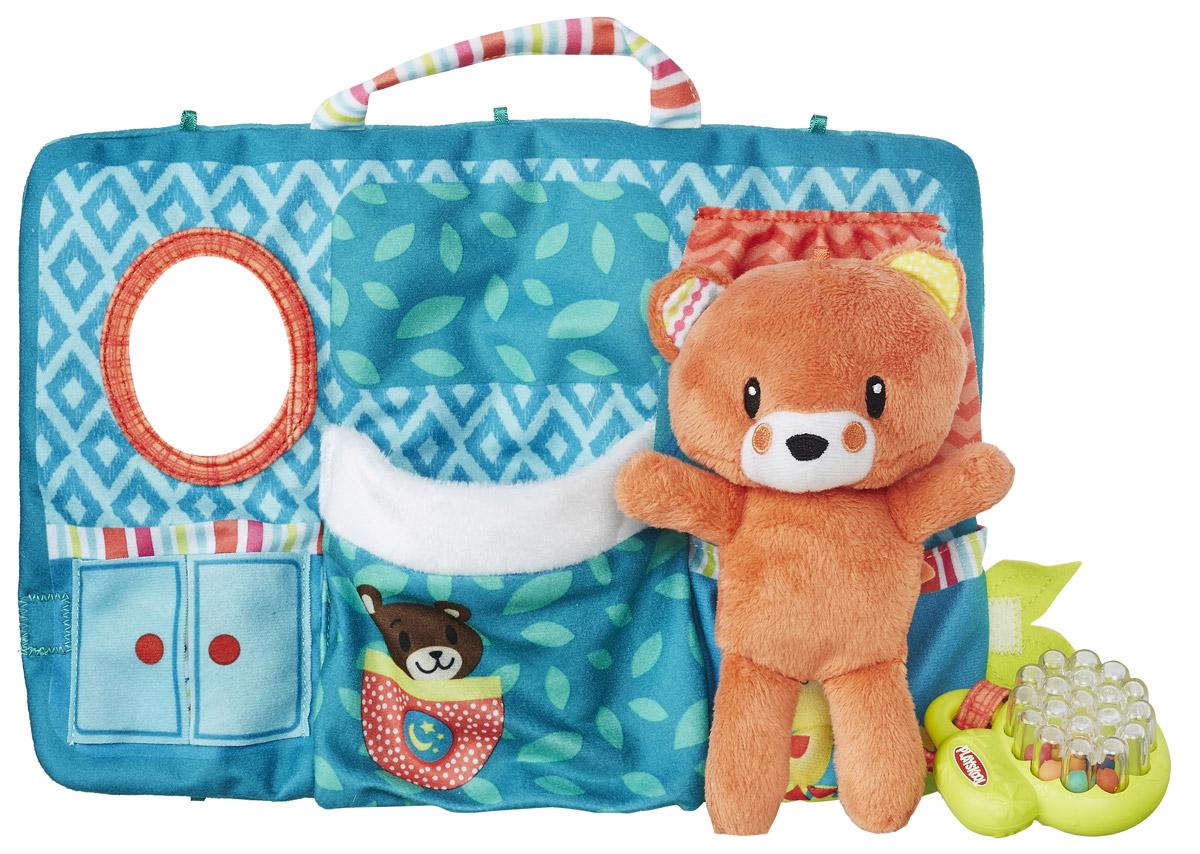Playskool Развивающая игрушка Первые плюшевые друзьяB6290EU4_мишка/оранжевыйРазвивающая игрушка Playskool Первые плюшевые друзья создана специально для малышей в возрасте от 9 месяцев. Игрушка представлена в виде рыжего медвежонка. В комплект входит домик, выполненный из текстиля и оснащенный зеркалом и погремушкой. Мишку можно положить в кармашек домика. Таким образом,например, ваш ребенок будет укладывать своего друга спать, что научит его заботе о близком и поощрит самостоятельность. Этот очаровательный медвежонок сможет стать настоящим другом для вашего малыша.
