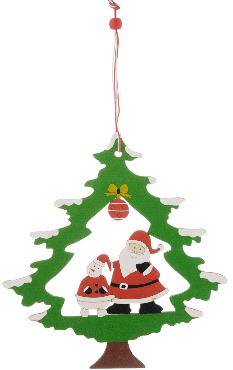 Украшение новогоднее подвесное House & Holder Новогодняя, 18 х 19 смDP-C04-36169Новогоднее подвесное украшение House & Holder Новогодняя выполнено из дерева. Изделие оформлено перфорацией. С помощью специальной петельки украшение можно повесить в любом понравившемся вам месте. Но, конечно, удачнее всего оно будет смотреться на праздничной елке. Елочная игрушка - символ Нового года. Она несет в себе волшебство и красоту праздника. Создайте в своем доме атмосферу веселья и радости, украшая новогоднюю елку нарядными игрушками, которые будут из года в год накапливать теплоту воспоминаний. Размер: 18 х 19 см.