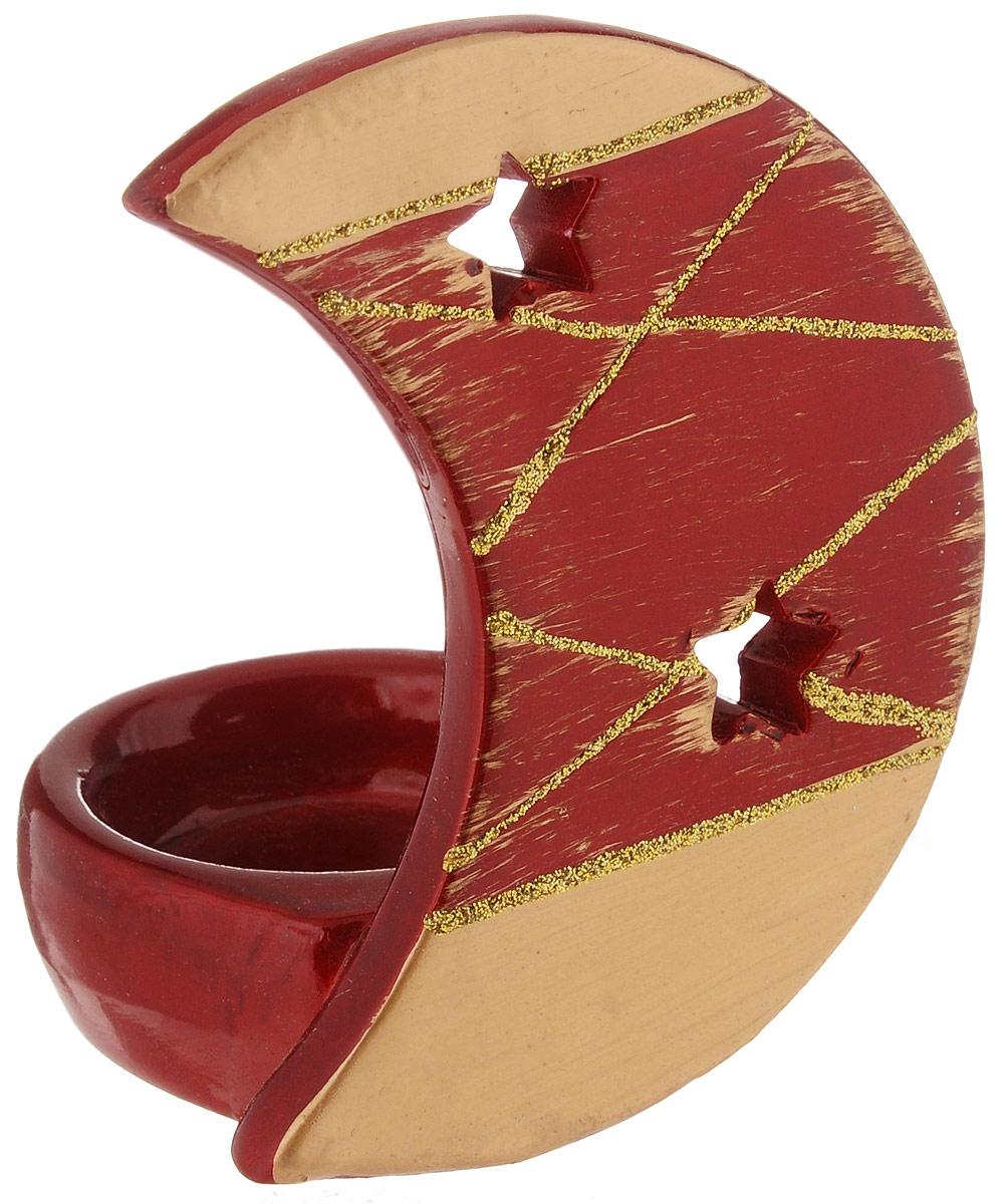 Подсвечник House & Holder, цвет: красный, 10 х 7 х 5,5 смDHS12260-3DПодсвечник House & Holder, изготовленный из керамики, станет прекрасным украшением интерьера помещения в преддверии Нового года. Подсвечник выполнен в виде небольшой чаши с луной и рассчитан на 1 чайную свечу. Зажигать свечи в Новый год - неизменная традиция, которая позволяет наполнить дом волшебством и таинственностью новогодней ночи. Размер подсвечника: 10 х 7 х 5,5 см.